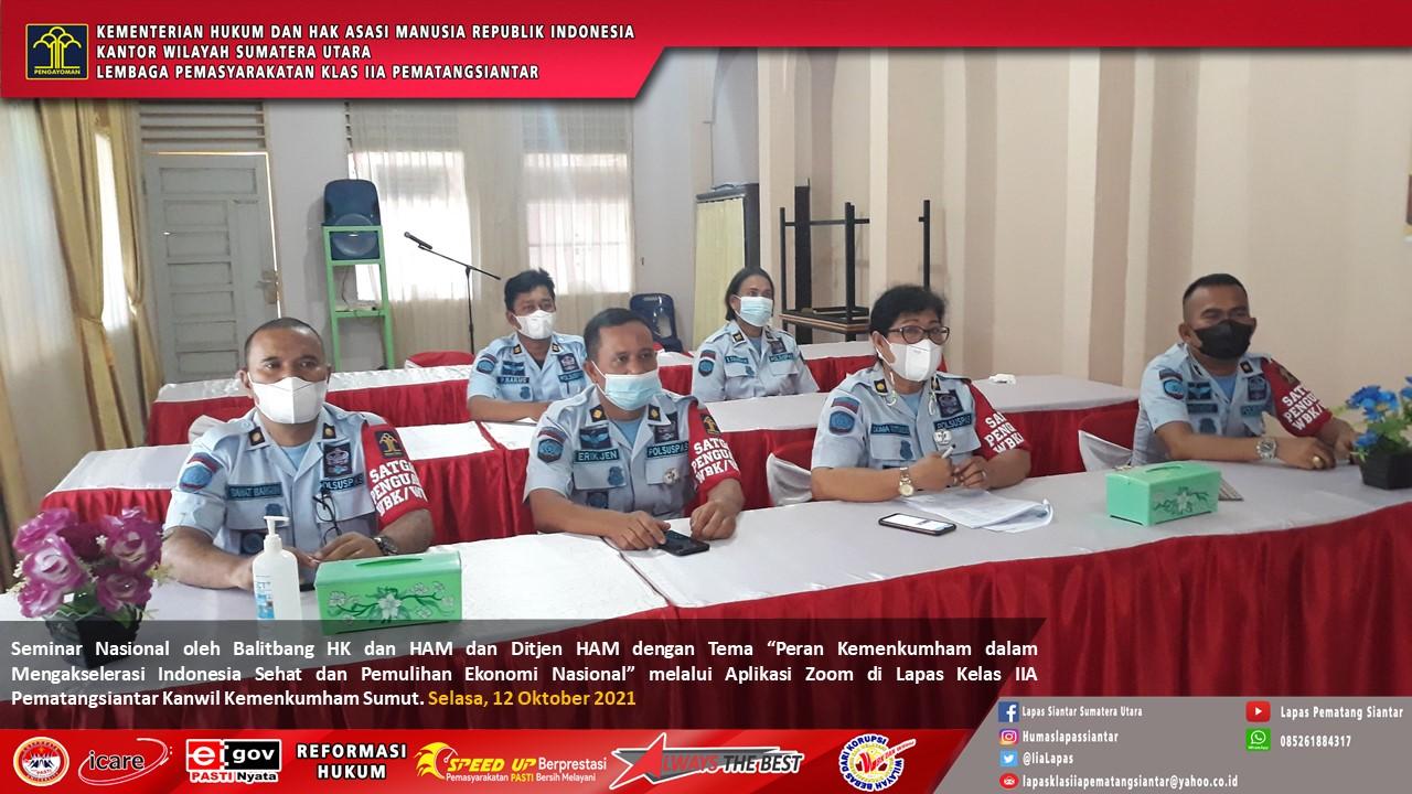Seminar Nasional oleh Balitbang HK dan HAM dan Ditjen HAM